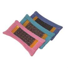 천연염색 순면 자수정 베개 커버/핑크