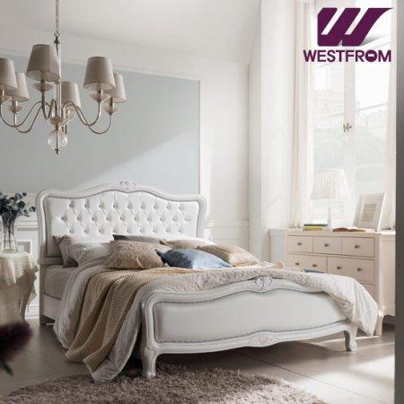 럭셔리앙뜨) 화이트 투매트리스 침대(퀸) / F7 화이트