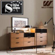 NEW빈티지카누B) 1100 STEEL Wood Chest (6칸서랍장) 브라운블랙
