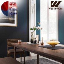 빈티지 다니엘) 애쉬원목 6인 식탁SET / 그레이 월넛브라운