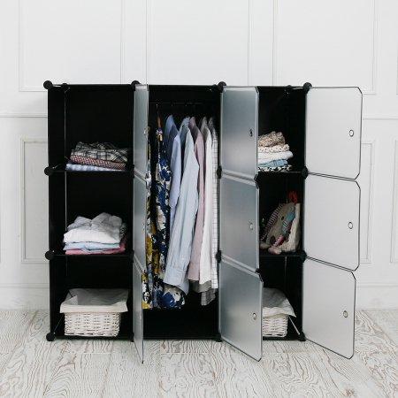 DIY 옷걸이 수납장 中 (블랙)