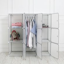 DIY 옷걸이 수납장 中 (투명)