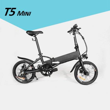 T5 미니 전기자전거 블랙
