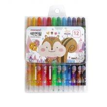 모나미 색연필 SET_MONIZOO 샤프식 색연필 12색 여
