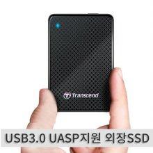 [★클리어런스세일★] TS128GESD400K [ 외장SSD / 128GB / USB3.0 UASP지원 ]