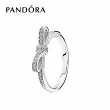 [판도라] 반지 Bow Silver Ring 190906CZ 50