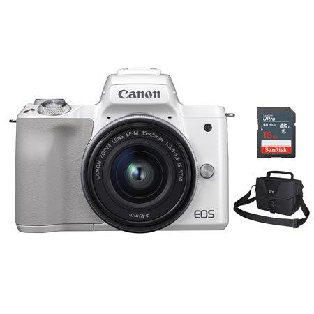 EOS-M50 미러리스 카메라[화이트][본체+15-45mm IS STM][사은품]