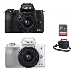 EOS-M50 미러리스 카메라[본체+15-45mm IS STM][16GB메모리카드+가방증정]