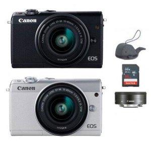 미러리스 카메라 EOS-M100 [ 15-45mm IS STM + 22mm / 16GB메모리 + 고래파우치 ]