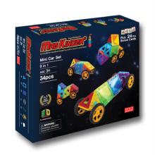 34pcs 맥킨더 자석블럭 클릭블럭 - 미니카 세트