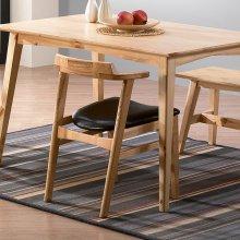 아폴로 원목 식탁 의자 블랙