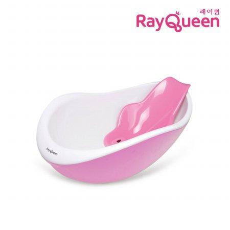 레이퀸 핑크 유아욕조/핑크등받이