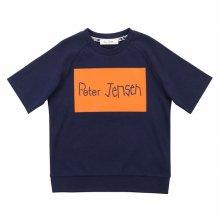 [피터젠슨] 아동 공용 박스 레터 맨투맨 반소매 티셔츠 POM12TM67M_NV NV:S(6세)