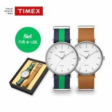 [TIMEX] 타이맥스 위켄더 가죽+나토세트 (남성용 40mm) TWG013000 (남성)