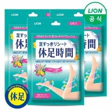 (무료배송)휴족시간 쿨링시트 6매 x 3팩