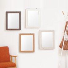 600 사각 프레임 벽거울 _월넛