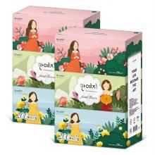 (무료배송)캐릭터 미용티슈 200매 3입 2팩