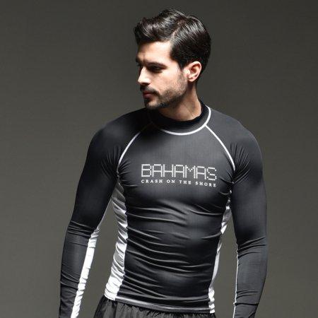 BAHAMAS 도트 블랙 래쉬가드 M 남성