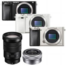 [16GB메모리+가방]미러리스 A6000 더블렌즈 [본체+16-50mm+18-105mm/블랙]