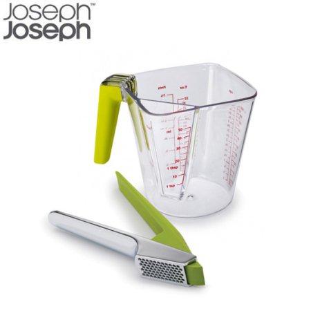 투인원 멀티 손잡이 계량컵 + 이지 클린 마늘짜개(색상옵션) 그린