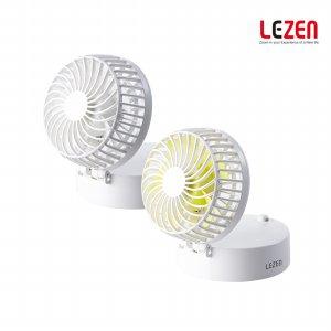 핸즈프리 목걸이형 미니 선풍기 미러팬 LZMF-ST2600 (탁상 겸용 + 휴대용 거울 + 보조배터리 기능)