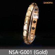 사노피아 써지컬 게르마늄 자석팔찌 NSA-G001 (골드 M)
