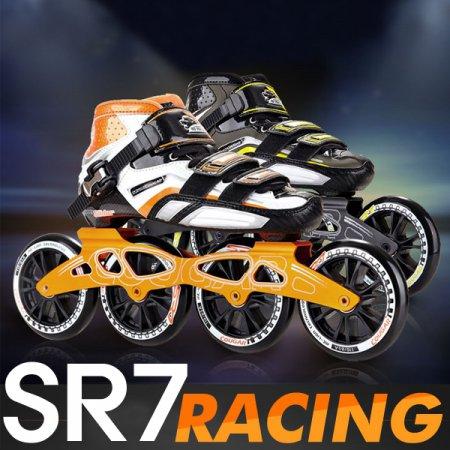 SR7 레이싱 인라인 풀세트/선수용 스피드스케이팅 _블랙오렌지_EU39_240mm