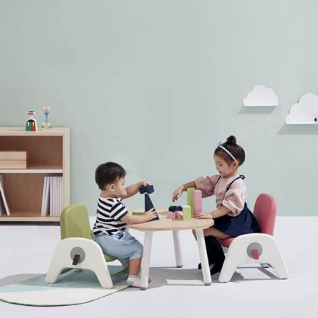 atti(아띠) 유아 책상+의자 세트 라이트우드:블루