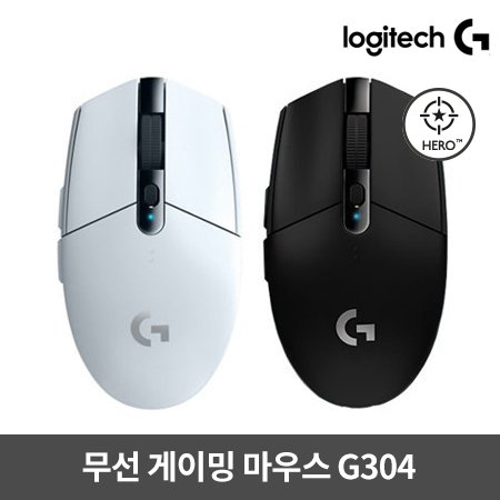 무선 게이밍마우스 G304 [ 화이트 / 블랙 ] [로지텍코리아정품]