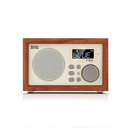 [비밀쿠폰]브리츠 사운드룸 블루투스 스피커[우드][BA-C1][알람/라디오]