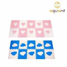 구름 하트 퍼즐매트 10P 놀이방매트 층간소음방지 블루 10입
