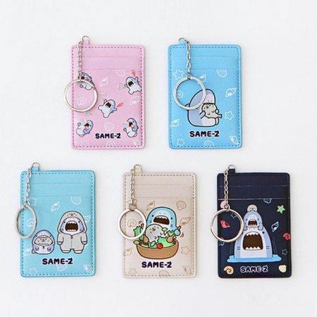 사메즈 교통카드 케이스 [카드케이스/카드포켓/열쇠고리/키링] Pink