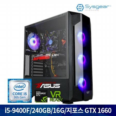 인텔 코어 i5 9세대 9400F + GTX 1660 GT46H 게이밍PC [Window 미포함]