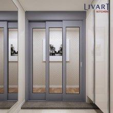 모던게이트 3연동 중문 1050~1500(-자/오픈형) 다크그레이