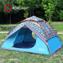 원터치 컴포트 텐트 4인용-블루패턴