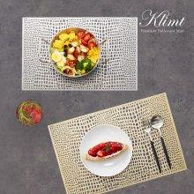 클림트 사각 식탁매트 2종 택1 골드