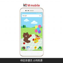 [kt M mobile]라인프렌즈 스마트폰[화이트][ZTE-T813]