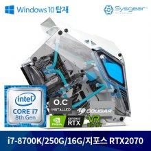 [Window탑재PC] 인텔 코어 i7-8세대 8700k FLEX87C 커스텀 수냉PC