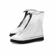 장마철 휴대용 PVC 방수 비닐장화 슈즈 신발 레인커버 블랙