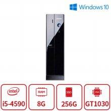 100대 한정 4세대 코어i5 블랙슬림 게이밍 데스크탑 [8G/SSD256G/GT1030]-리퍼