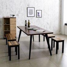스틸 인더밴 1800식탁세트 식탁테이블 (K25-818) 상판_LPM아카시아(K22-818A):의자_아카시아_1인(T9)_4개