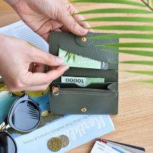 플레픽 올데이 카드 월렛 [카드지갑/교통카드/동전지갑/카드케이스] Burgundy