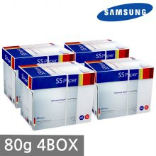 삼성 SS페이퍼 A4 복사용지(A4용지) 80g 2500매 4BOX(10000매)