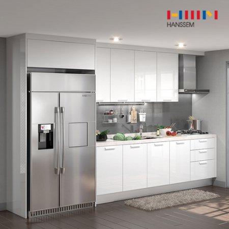 EURO 9000 리치스페셜(ㅡ자/냉장고장형/3.6m초과~4.1m이하) 상/하-리치펄화이트
