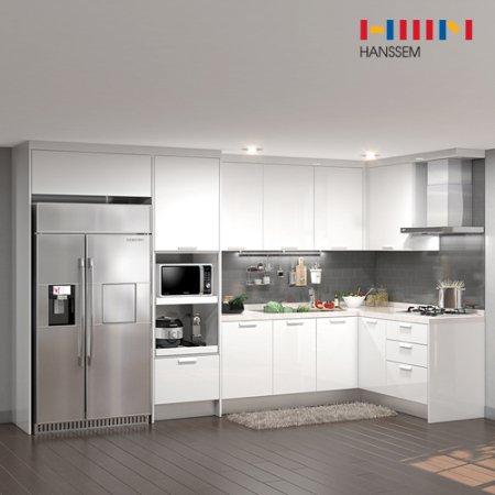 EURO 9000 리치스페셜(ㄱ자/키큰장+냉장고장형/5.9m초과~6.3m이하) 상/하-리치펄화이트