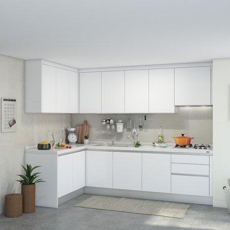[냉장고장증정]EURO 9000 프리모화이트(ㄱ자/기본형/5.2m초과~5.5m이하)