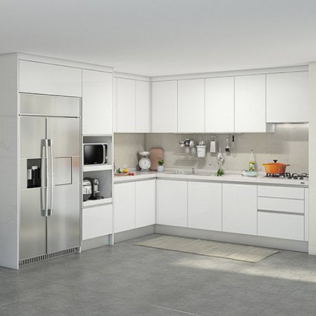 EURO 9000 프리모화이트(ㄱ자/키큰장+냉장고장형/5.1m초과~5.3m이하)