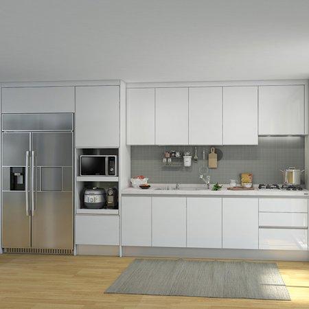 EURO 9000 프리모화이트(ㅡ자/키큰장+냉장고장형/3.3m초과~3.8m이하)