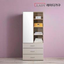 마샤 800 화장대 3단 서랍형옷장 _화이트