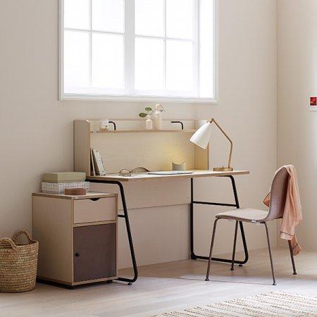 노마 높은 선반형 책상 핀란드아이보리+초롤릿다리(FIVCHO)